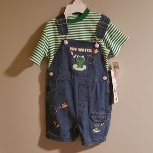 NWT jean overalls bugs